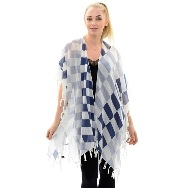 302d5edd18 BYOS Womens Fashion Lightweight Printed Open Front Kimono Cardigan Beach  Cover-up Various Patterns