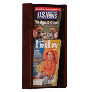 Wooden Mallet Stance 2 Pocket Wall Display 2H Mahogany