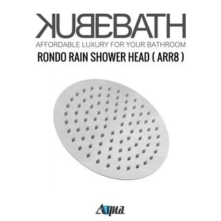 "Aqua Rondo Shower Set w/ 8"" Rain Shower and Handheld"
