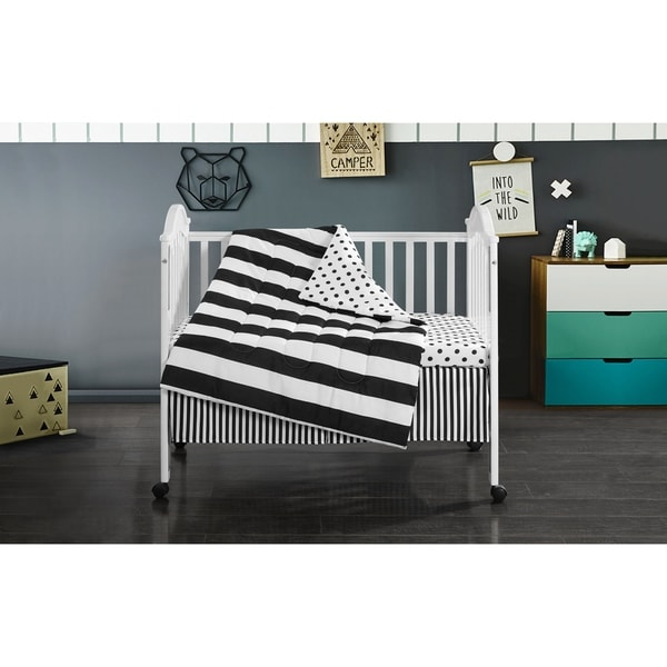 Mini Mod Striped 3 Piece Crib Set