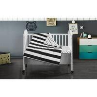 Mini Mod Striped 3 Piece Crib Set