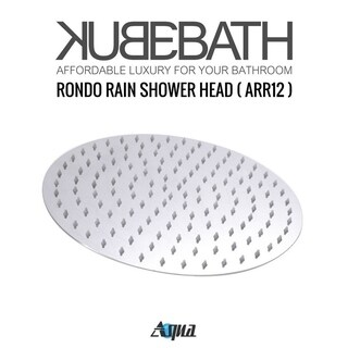 "Aqua Rondo Shower Set w/ 12"" Rain Shower and Tub Filler"