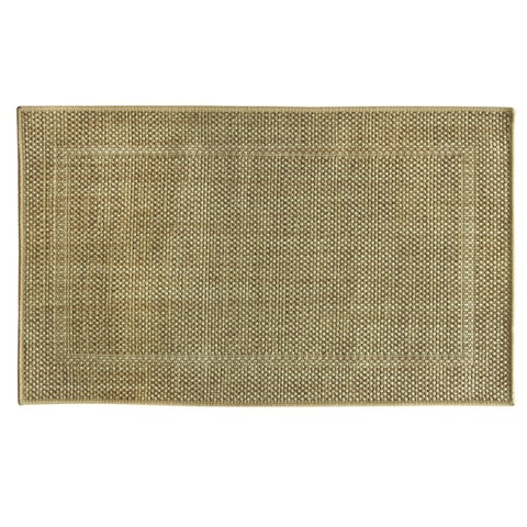 Woven Natural Framed Ridges Accent Rug by Bacova