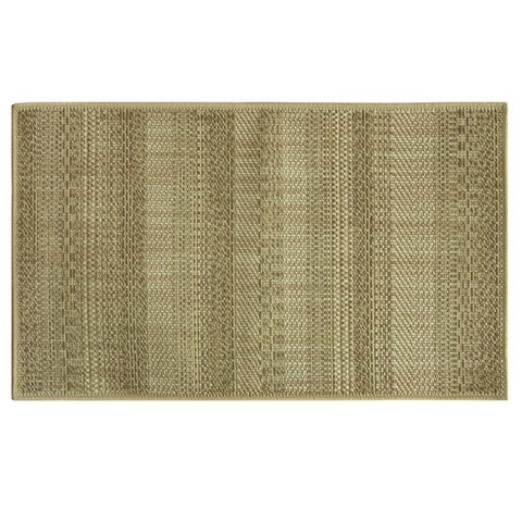 Woven Natural Textured Stripe Accent Rug by Bacova
