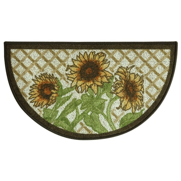 Shop Classic Berber Sunflower Kitchen Rug By Bacova