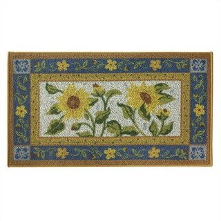 Classic Berber Sun Garden kitchen rug by Bacova - 1'10 x 3'4