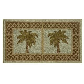 Classic Berber Rattan Kitchen rug by Bacova - 1'10 x 3'4