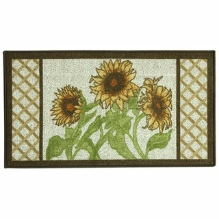 Classic Berber Sunflower Frame Kitchen rug by Bacova - 1'10 x 3'4