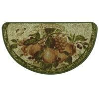 "Classic Berber Touscana Kitchen rug by Bacova - Beige/Green - 1'6"" x 2'6"""