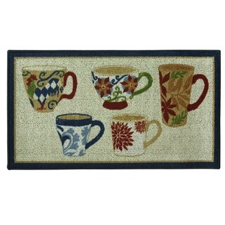 Classic Berber Coffee Kitchen rug by Bacova - 1'10 x 3'4