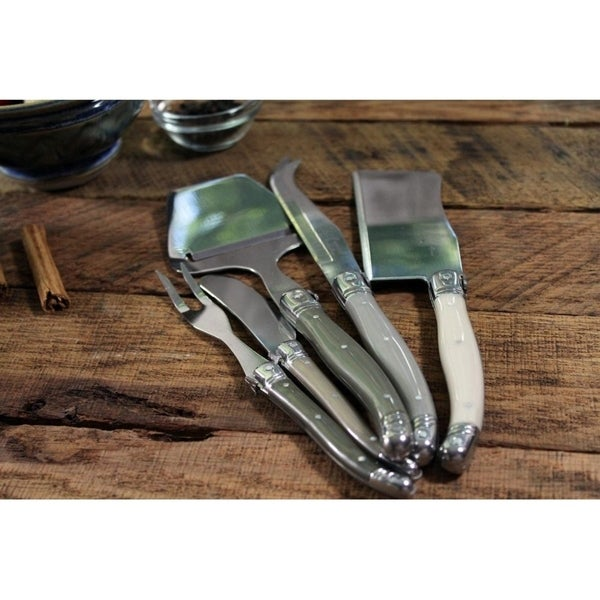 Shop French Home 5 Piece Laguiole Quot Mist Quot Cheese Knife
