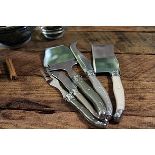 "French Home 5 Piece Laguiole ""Mist"" Cheese Knife, Fork and Slicer Set"