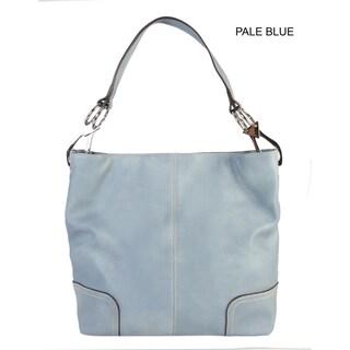 Diophy PU Leather Hobo Womens Purse Handbag - L (Option: Pale Blue)