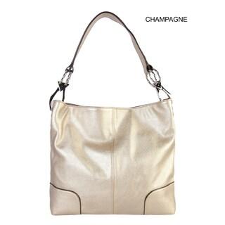 Diophy PU Leather Hobo Womens Purse Handbag - L (Option: champagne)