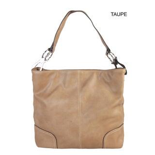 Diophy PU Leather Hobo Womens Purse Handbag - L (Option: Taupe)
