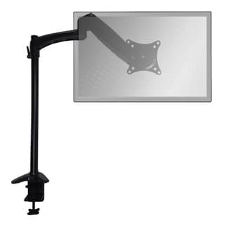 Sit-Stand Monitor Arm Extended Single Air-Assist Arm Black