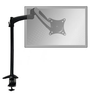 Sit-Stand Monitor Arm: Extended Single Air-Assist Arm with White Accent