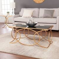 Harper Blvd Milani Gold Geometric Cocktail Table w/ Mirrored Top