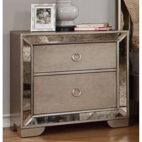 Best Master Furniture Ava 2 Drawer Nightstand