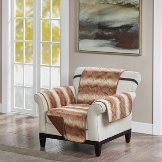 Madison Park Marselle Tip Dyed Long Faux Chair Protector
