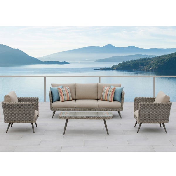 Danforth 4-Piece Outdoor Conversation Patio Set - Shop Danforth 4-Piece Outdoor Conversation Patio Set - Free Shipping