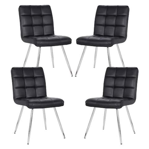 EdgeMod Petras Vegan Leather Chair (Set of 4)