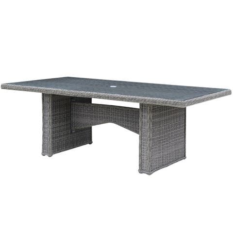 Furniture of America Estello Contemporary Grey Weather Resistant Patio Dining Table