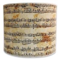 Royal Designs Modern Trendy Decorative Handmade Lamp Shade - - Musical Notes Design -10 x 10 x 8