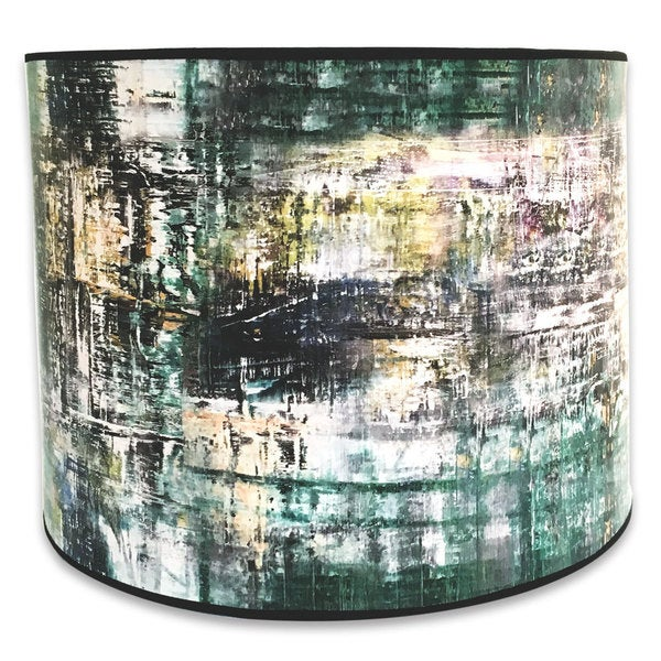 Royal Designs Modern Trendy Decorative Handmade Lamp Shade - Made in USA - Abstract Painterly Design -10 x 10 x 8