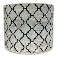 Royal Designs Modern Trendy Decorative Handmade Lamp Shade - - Moroccan Tile Textured Design -10 x 10 x 8