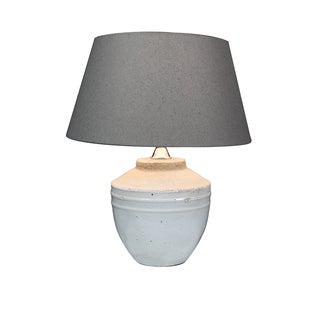 Urban Designs Toba 17-Inch Antique Grey Ceramic Table Lamp