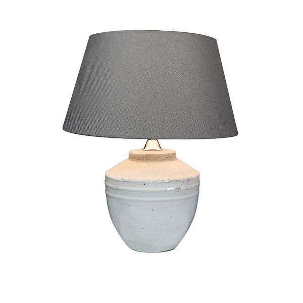 Urban Designs Toba 17-Inch Antique Grey Ceramic Table Lamp