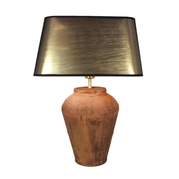 Urban Designs Baceno 23-Inch Rusted Bronze Metal Table Lamp