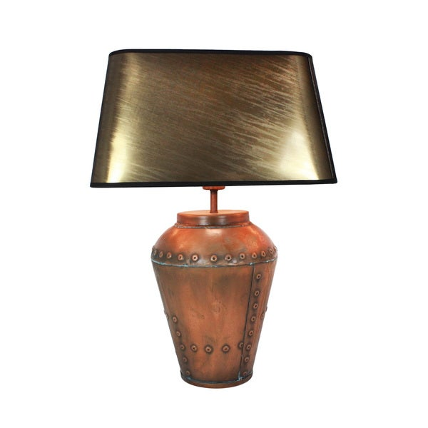 Urban designs baceno ii 23 inch antique copper metal table lamp