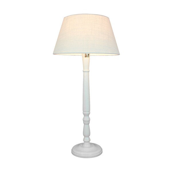 Urban Designs Liverpool 25-Inch Pole Whitewashed Wood Table Lamp