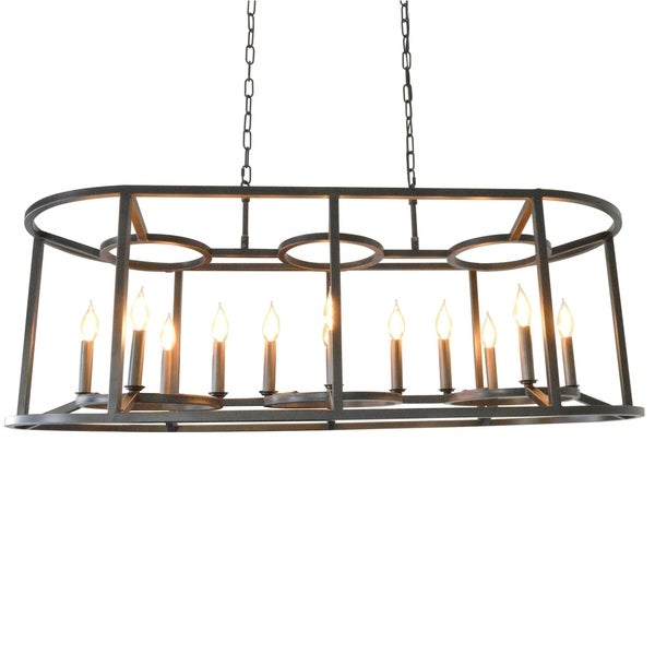Shop 12 light cage drum candle style chandelier in black free 12 light cage drum candle style chandelier in black aloadofball Gallery