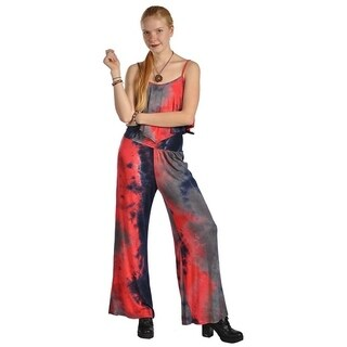 Womens High Waist Sleeveless Universe Pattern Design Jumpsuits Rompers