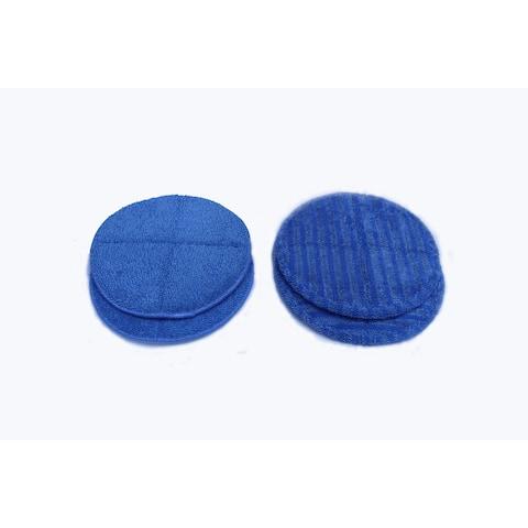 2 sets of (2) replacment Prolux Mirage Microfiber Cloth Pads - Blue