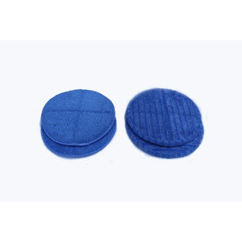 2 sets of (2) replacment Prolux Mirage Microfiber Cloth Pads - Blue