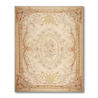 "Traditional Classic Asmara Needlepoint Aubusson Rug (10'x13'7"")"