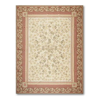 "Traditional Asmara Needlepoint Aubusson Hand Woven Rug (8'7""x11'10"")"
