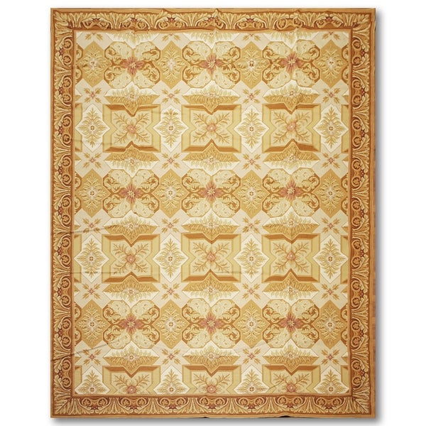 French Country Classic Asmara Needlepoint Aubusson Area Rug (9'x12')