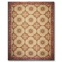 French Country Asmara Needlepoint Aubusson Area Rug - multi