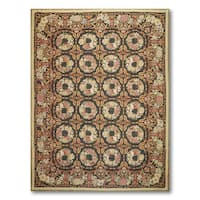 Botanical Classic Asmara Needlepoint Aubusson Area Rug - multi