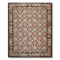 Asmara Ornamental Needlepoint Aubusson Flat Weave Area Rug - 9'x12'