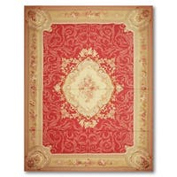 "Asmara Medallion Needlepoint Aubusson Area Rug (9'8""x14')"
