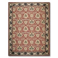 Asmara French Country Needlepoint Aubusson Flat Weave Area Rug - multi