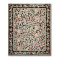 Asmara Floral Country Needlepoint Aubusson Rug - multi