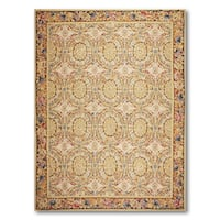 Art Deco Style Asmara Needlepoint Aubusson Area Rug - multi