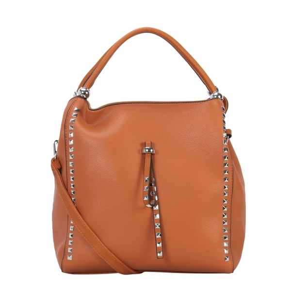 Shop Diophy Square Stud Decoration Adjustable Shoulder Bag - L ... dd5b92573e